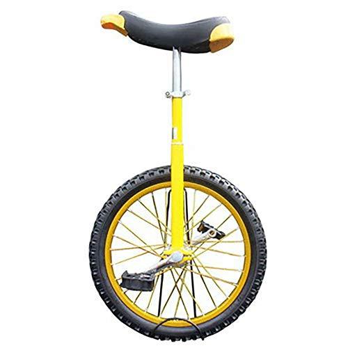 Einrad Kinder/Erwachsene/Jugendliche Im Freien Einrad, 24/20/18/16 Zoll Rad Balance Cycling, Mit Verdickter Leichtmetallfelge, 18/16/15/14/9 Jahre Altes Kind (Color : Yellow, Size : 18inch)