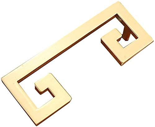 Dfghbn Manejar Chino Armario Guardería Gabinete de Bronce Gabinete Dibujos para cajones Manija Muebles Handware Hardware (Size : 9.6cm/3.78in)