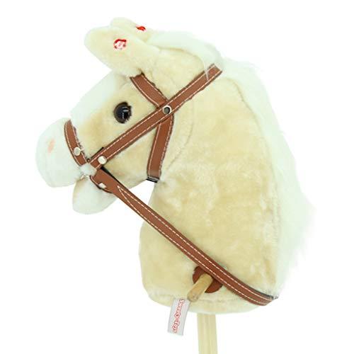 Sweety Toys 10530 Steckenpferd Hobby Horse Champagne mit Funktion Gewieher und Galoppgeräusch