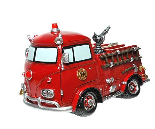 Kremers Schatzkiste Spardose Nostalgie Feuerwehrauto 19 cm Figur Sparschwein Feuer Feuerwehr