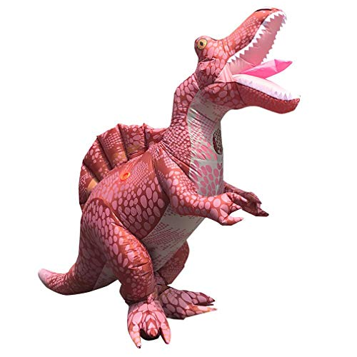 Arokibui Funny Spinosaurus Inflatable Dinosaur Costume Blow up Dino Costume for Adults Cosplay Party Christmas Halloween Costume Jumpsuit