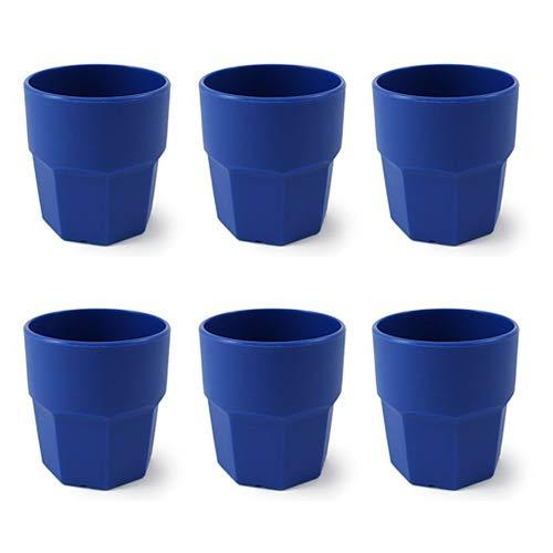 cartaffini – Gobelet en plastique, polypropylène (PP), capacité 25 cl, forme octogonale – Set 6 Pièces – Couleur : Bleu