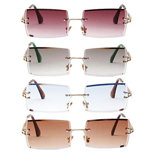 NON Gafas de Sol de Mujer Oversiz Gafas de Sol de Montura Grande Mujer