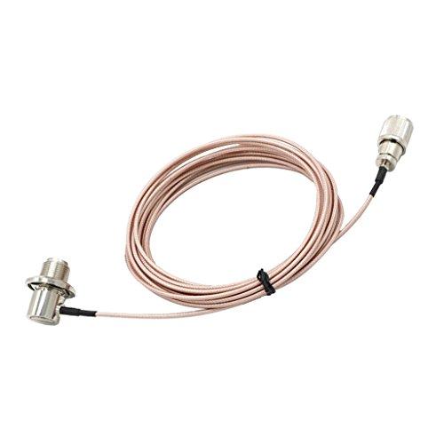 Sharplace Câble d'Antenne de Radio Portatif Cable 5 m, avec PL-259 et SO-239 Connecteur