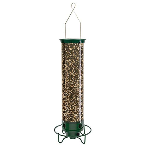 Droll Yankees YF-M Yankee Flipper Squirrel-Proof Bird Feeder, 21 Inch, Green