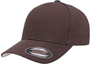 Flexfit unisex adult Cotton Twill Fitted Cap Hat Brown Large-X-Large US