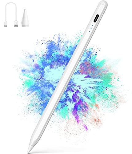 Penna per Tablet,1.5mm Penna Tablet con ad Alta Precisione, Inclinazione, Palm Rejection per Apple iPad 2018 e 2021,Pennino Adatto per Scrivere, Disegnare, Prendere Appunti, Giocare