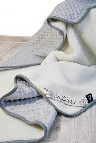 2 in 1 WOOLMARKED MERINO WOOL Baby Deken Alle seizoenen onder bed Cover Pad Matrasbeschermer wieg deken voor baby, peuter, kind. Natuurlijk absorbeert Vocht.Kasjmier Deken,