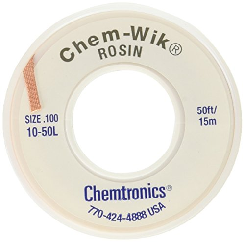 Chemtronics Desoldering Braid, Chem-Wik, Rosin, 10-50L 0.10