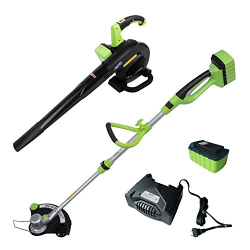 Best Price ALEKO AGTLB36V Leaf Blower and String Grass Trimmer NiZn Combo Kit