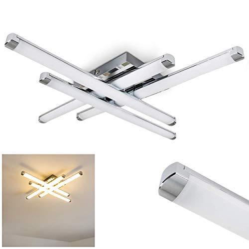 Moderna Lámpara de techo LED Iskut - 4x 4,5W LED alta eficiencia - 1600 Lumens 3000K blanco cálido - Lámpara de techo salón dormitorio cocina