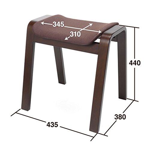 サンワダイレクトスタッキングスツールオットマン木製積み重ね可能2脚セット完成品150-SNCH009
