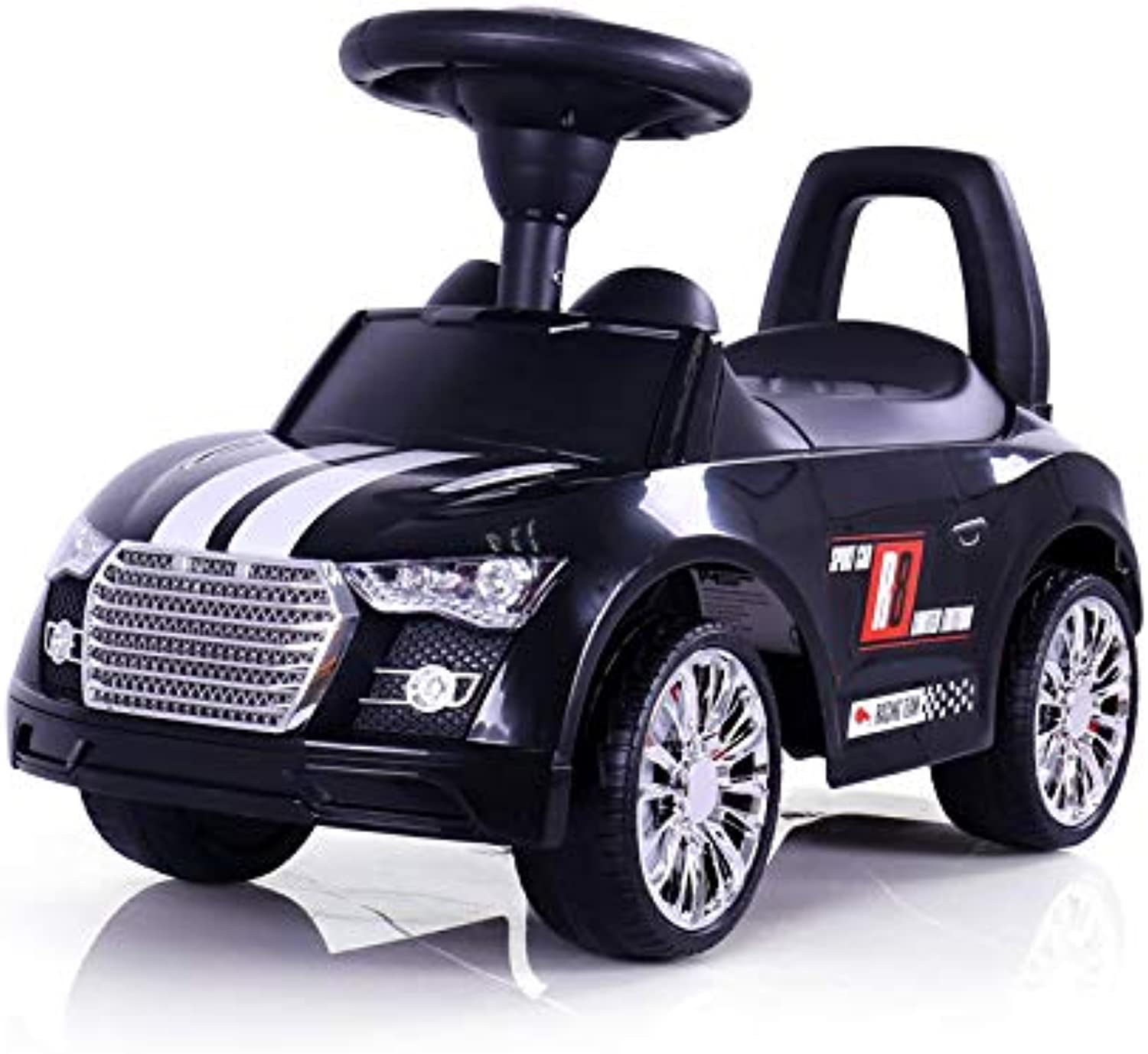 The Ride on for Your Little Racer, no Boring Design, This Racer Comes in Different Sporty Designs, Like a Real Sports car, color Black