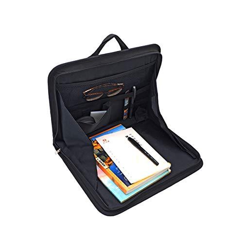 Auto-Rücksitztasche, Laptop-Halter, Laptop Tasche Ständer für KFZ, Tablett zur Befestigung am Vordersitz, für Bücher, Snacks, Office-Dokumente/Unterlagen, Smart Phones, Getränke (Schwarz)