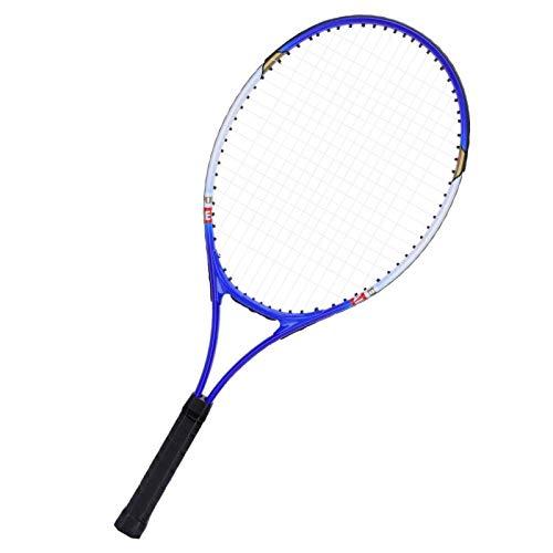 Socobeta Raqueta De Tenis, Raqueta De Tenis De Aleación De Aluminio Raqueta De Tenis Resistente De Alta Elasticidad para Tenis para Principiantes para Aprender Tenis(Azul)