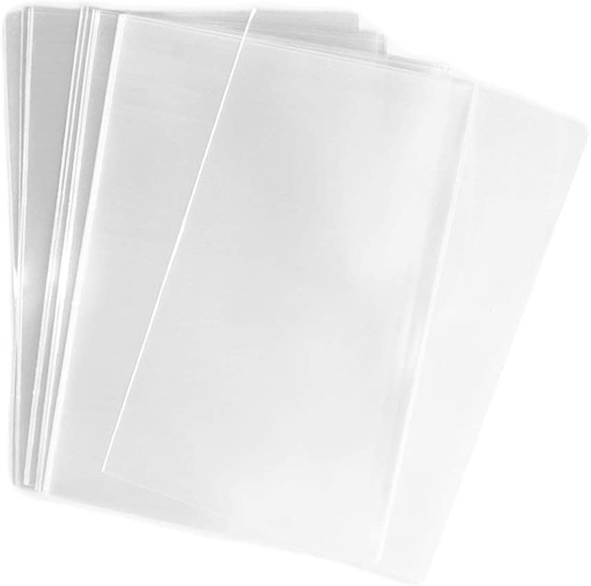 UNIQUEPACKING 100 Pcs 9x12 (O) Clear Flat Cello/Cellophane 9 x 12 Bags