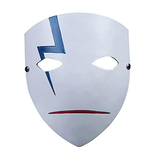 Alxcio Máscara de Halloween, edición coleccionable, de resina, para máscara, disfraz, fiesta, cosplay, regalo (Darker Than Black)