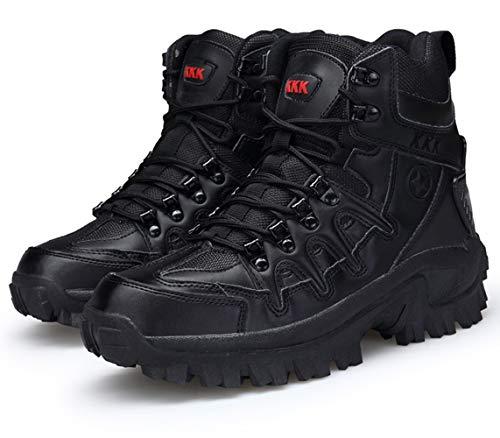 Bitiger Stiefel Herren Army Combat Boots mit Zipper Verschleißfest rutschfeste Outdoor Trekkingschuhe Militär & Einsatzstiefel