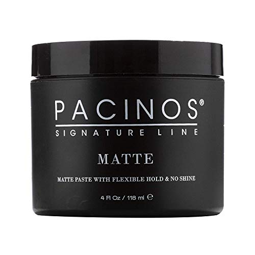 Pacinos Matte, Medium Hold No Shine Styling Hair Paste, Scupling Wax, Flexible for All Hair Types, Add Long Lasting Definition and Texture for a Natural Looking Hairstyle, No Flakes or Residue, 4 oz
