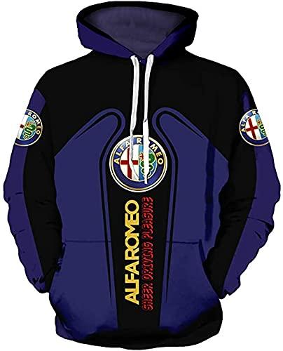 Alta gama personalizar Al-fa Ro.me.o 3D logo impresión digital suéter camisas moda deportes sudaderas otoño invierno manga larga sudadera con capucha para hombres mujeres S a 5XL ropa ropa ropa