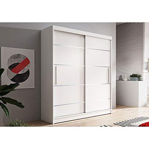VISSTA06 - Armario de calidad para puertas correderas (150 cm), color blanco