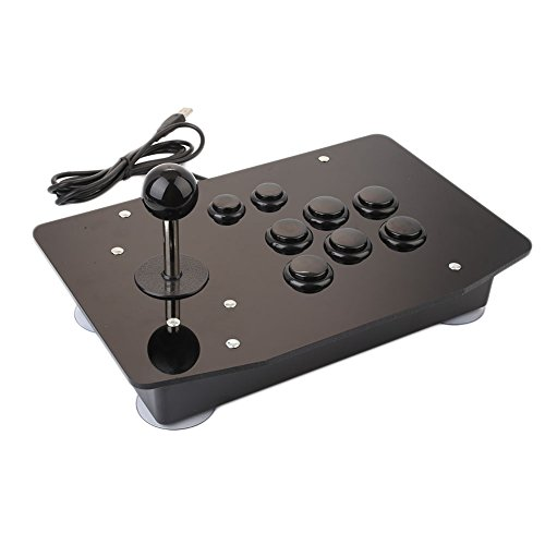 Cewaal Anyutai 8 Videogiochi USB Key Arcade Fighting Stick Joystick Gaming Controller Gamepad per PC