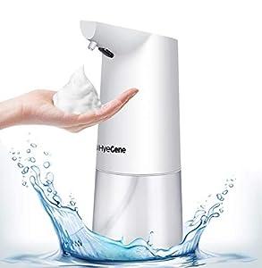 immagine di HyeGene - Dispenser di sapone automatico in schiuma, 350 ml, sensore di movimento a infrarossi