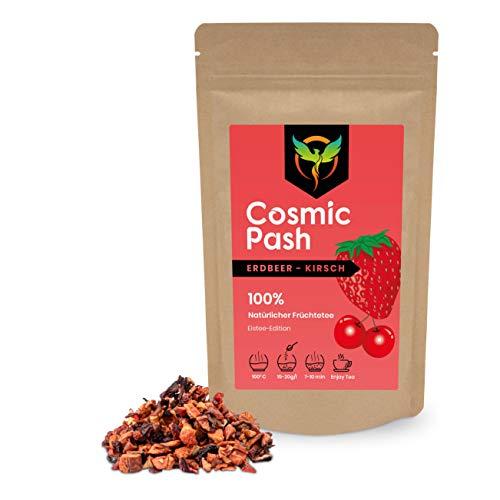 Cosmic Pash Frozen Tea Erdbeer-Kirsch Eistee-Edition | Früchtetee lose | 100% natürlich | ohne Zucker | koffeinfrei 100g