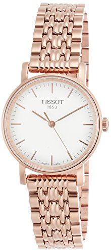 Tissot Damen Analog Quarz Everytime Small Armbanduhr mit Edelstahl Armband T1092103303100