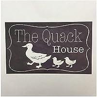 クワックハウスヴィンテージスタイルメタルサインアイアン絵画屋内 & 屋外ホームバーコーヒーキッチン壁の装飾 8 × 12 インチ