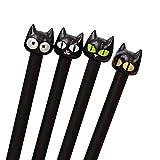 4 Stück Gel kreative süße Katze 0,5 mm liefert Schule schwarzen Stift sehr praktisch und beliebt...