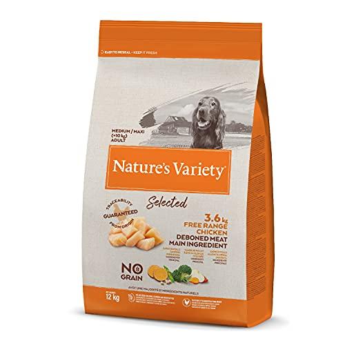 Nature's Variety Selected Croquettes pour Chien Adulte avec Poulet Désosé 12 Kg