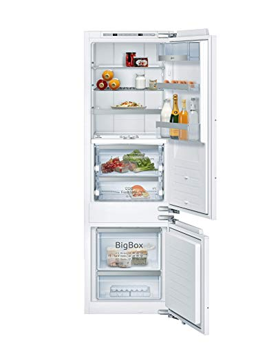 Neff KI8878FE0 - Refrigerador con congelador inferior N90 / A++, 177,2 x 55,8 cm (alto x ancho) / 176 L refrigerador / 62 L congelador/FreshSafe 3 / LowFrost