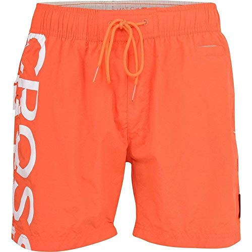CrossHatch Herren Schwimm Shorts Surfbrett Badehose Strand Netzfutter Shortgate Neu - Orange - Shortgate, M