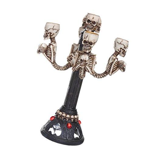 homozy Vintage Skull Tea Light Candle Stick Holder