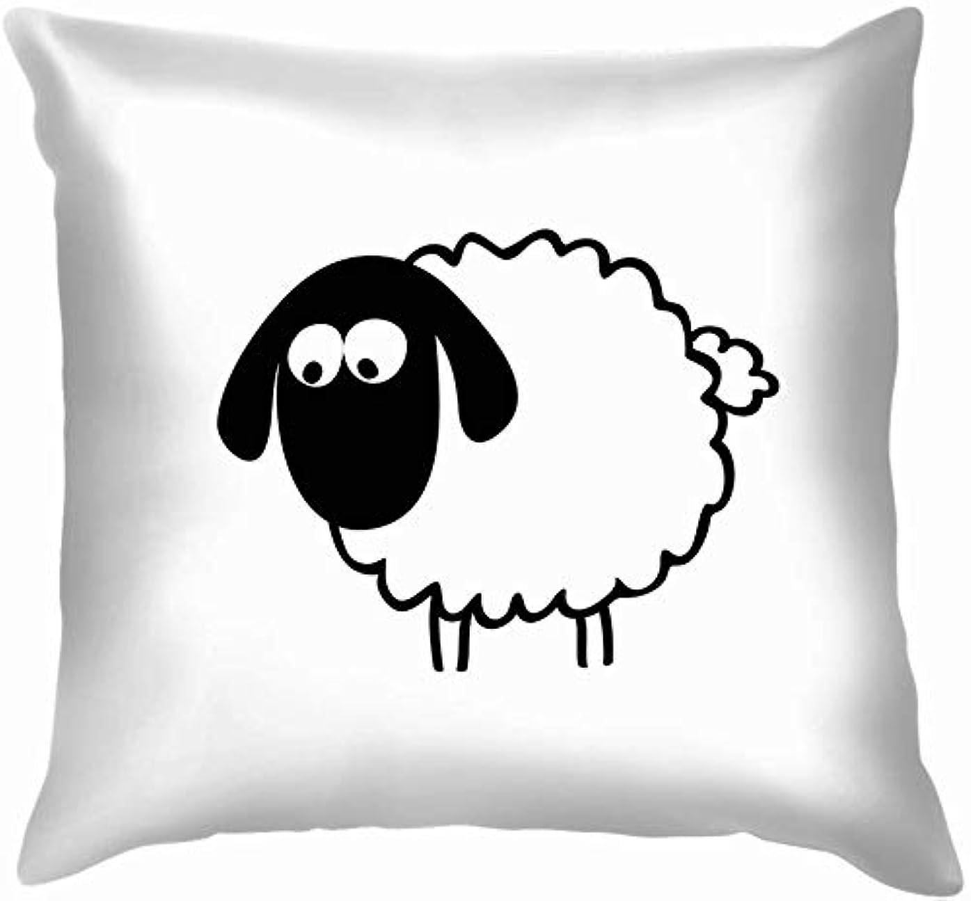 礼儀ビーズ身元羊動物野生動物自然投球枕カバーホームソファクッションカバー枕カバー45 x 45 cm