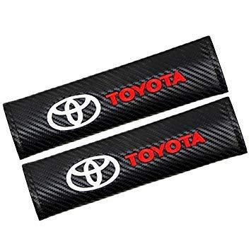 Tgh (C-Toy) Kit de 2 Fundas Almohadillas para cinturón Corolla para Coche ((Efecto Fibra de Carbono))