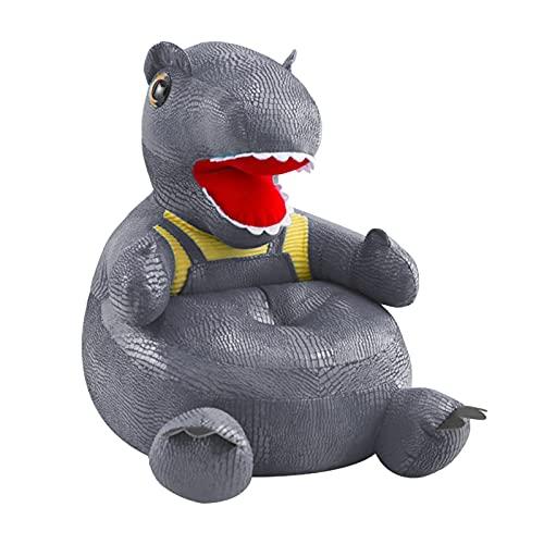 XIXINYA Simulación Creativa Cocodrilo Cuero de Cuero Dinosaurio Sofá Aprendizaje Asiento Sillón Sofá Lavable Sofá Extraíble Lleve Toy Regalo (Color : Gray)