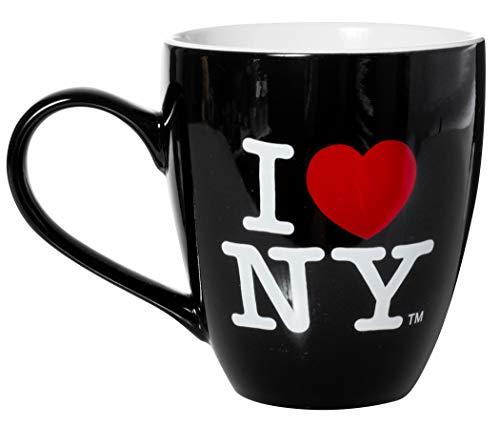 "Keramik-Kaffeetasse \""I Love New York\"", 11,4 cm hoch, 473 ml, Schwarz"