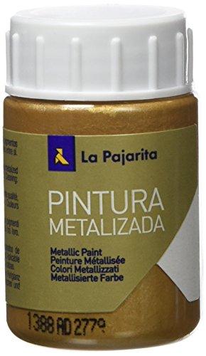 Caja x 6 La pajarita, Pintura Metalizada, Oro Ducado, 35 ml