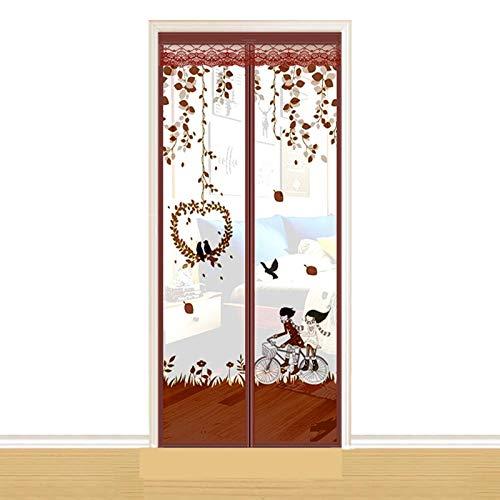 NXM Magnet Fliegengitter Tür Insektenschutz Balkontür, Insektenschutz Fliegenvorhang Balkontür Ohne Bohren Fliegengitter Schiebetür Magnetverschluss Faltbar, Für Flure/Türen/Windows,C,85cm/210cm