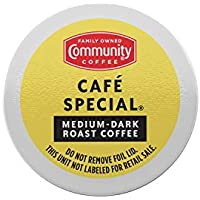 Pack of 6 Community Coffee Cafe Special-Medium Dark Roast Coffee Pods