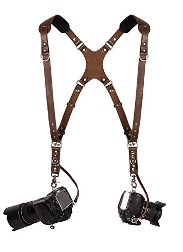 Camera Accessories Dual Harness Two Cameras - Shoulder Leather Strap