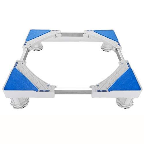Base móvil multifuncional Base móvil - Lavadora soporte universal Nevera Nevera suelo del carro soporte 4 Pies fuerte base ajustable multi-funcional for secadora conveniente Para lavadora refrigerador