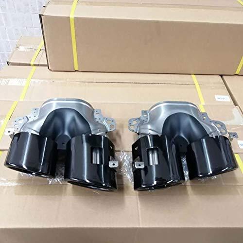 wuwenjun Auto Heckstoßstange Turbo Schalldämpfer Auspuffspitzen Rohrauslass Auslass Für Mercedes W177 A35 C118 CLA 35 X247 GLB 35 A45S AMG Einbau 2020+