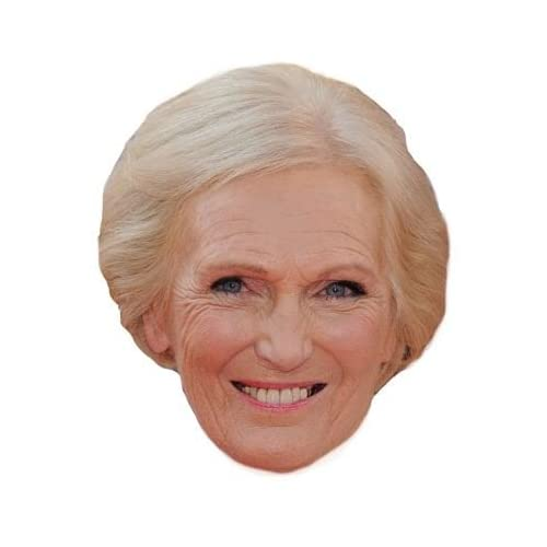 Mary Berry Celebrity Chef Card Mask Made In The UK Fast Dispatch