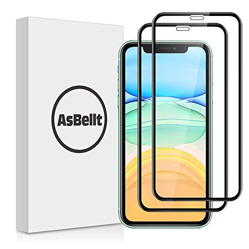 AsBellt Protector Pantalla de iPhone 11/ iPhone XR (6.1 in') (9H Dureza) (2 Unidades), Protector de Pantalla / Cristal Vidrio Templado de 3D para iPhone 11/ iPhone XR