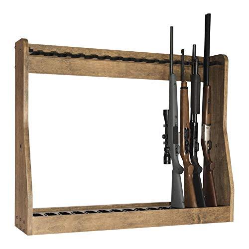 15 Gun Vertical Gun Rack (Dark Walnut)