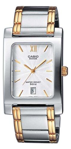 Casio BEM-100SG-7AVEF - Reloj analógico de Cuarzo para Mujer con Correa de Acero Inoxidable, Color Negro