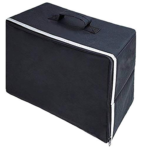 Funda para máquina de coser, tela Oxford resistente al desgaste, a prueba de polvo, asa superior, bolsa de almacenamiento, bolsa de transporte universal con cierre de cremallera
